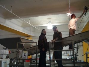 Brian and Jennifer on the sorting line back in 2005 for our first crush with Amber Ridge